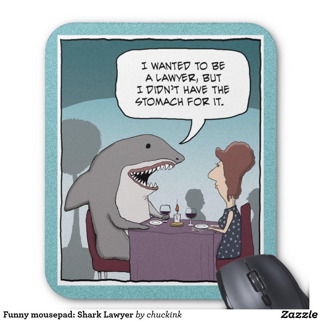 Funny Mousepad: Shark Lawyer | Zazzle | Tapis De Souris concernant Requin Souris