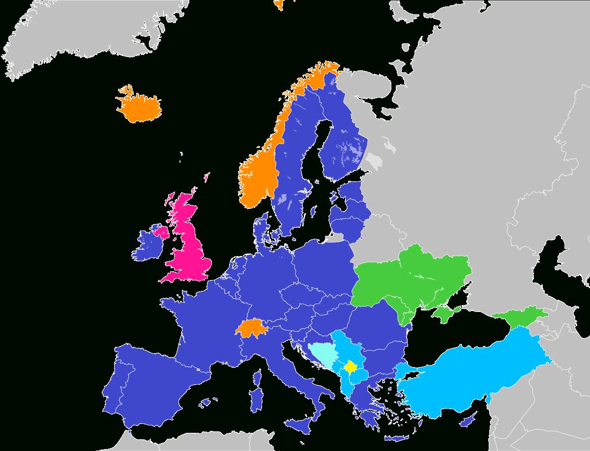 Futur Élargissement De L'union Européenne — Wikipédia dedans Nom Des Pays De L Union Européenne