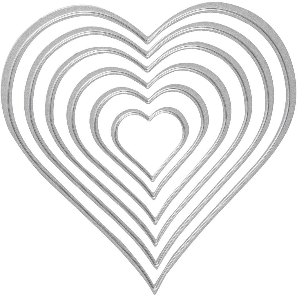Gabarit De Coupe, Dim. 2,5X3-10X11 Cm, , Coeur, 1Pièce concernant Coeur A Imprimer Et Decouper