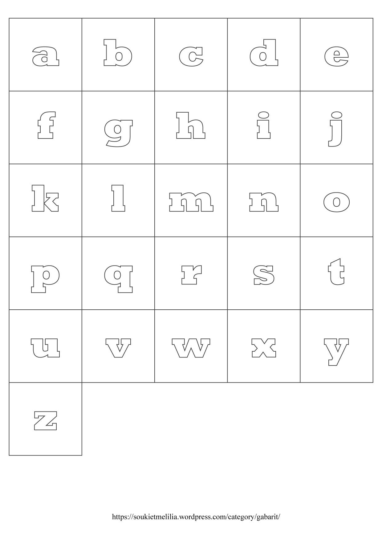 Gabarits Alphabet À Télécharger Au Format Pdf – Souki Et Mélilia pour L Alphabet Minuscule