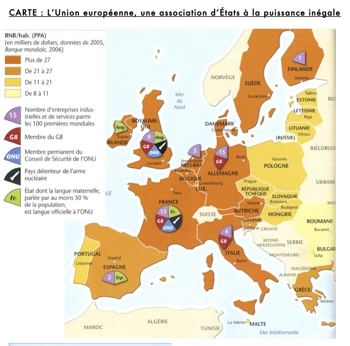 Géo 3Ème Iii - La France Et L'union Européenne - La P pour Liste Des Pays De L Union Européenne Et Leurs Capitales