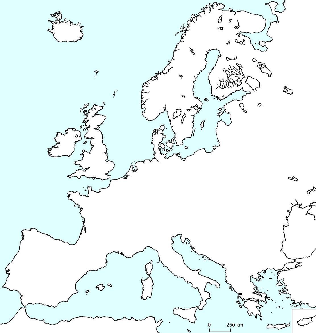 Geographie Et Histoire Au Cp, Ce1, Ce2, Cm1, Cm2 destiné Carte Europe Vierge Cm1