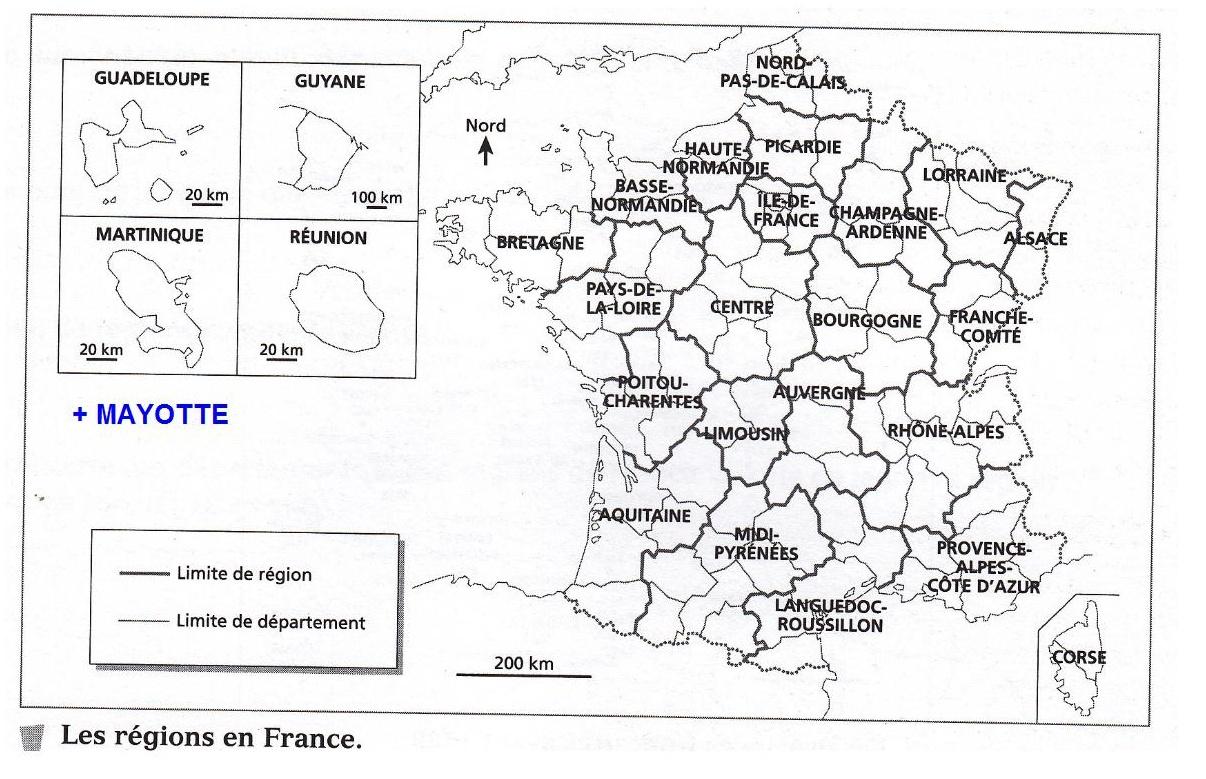 Géographie / Geography - Ce2 Bilingue Lif intérieur Le Découpage Administratif De La France Ce2
