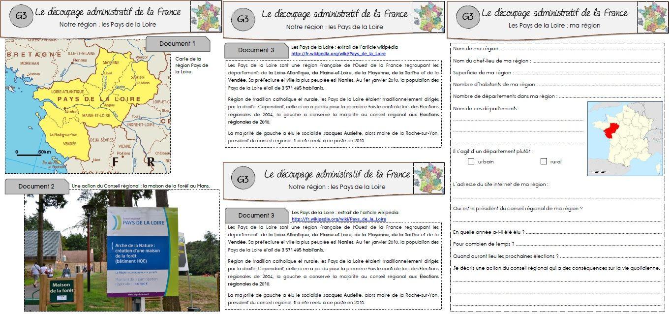 Géographie : Le Découpage Administratif De La France | Ma intérieur Le Découpage Administratif De La France Ce2