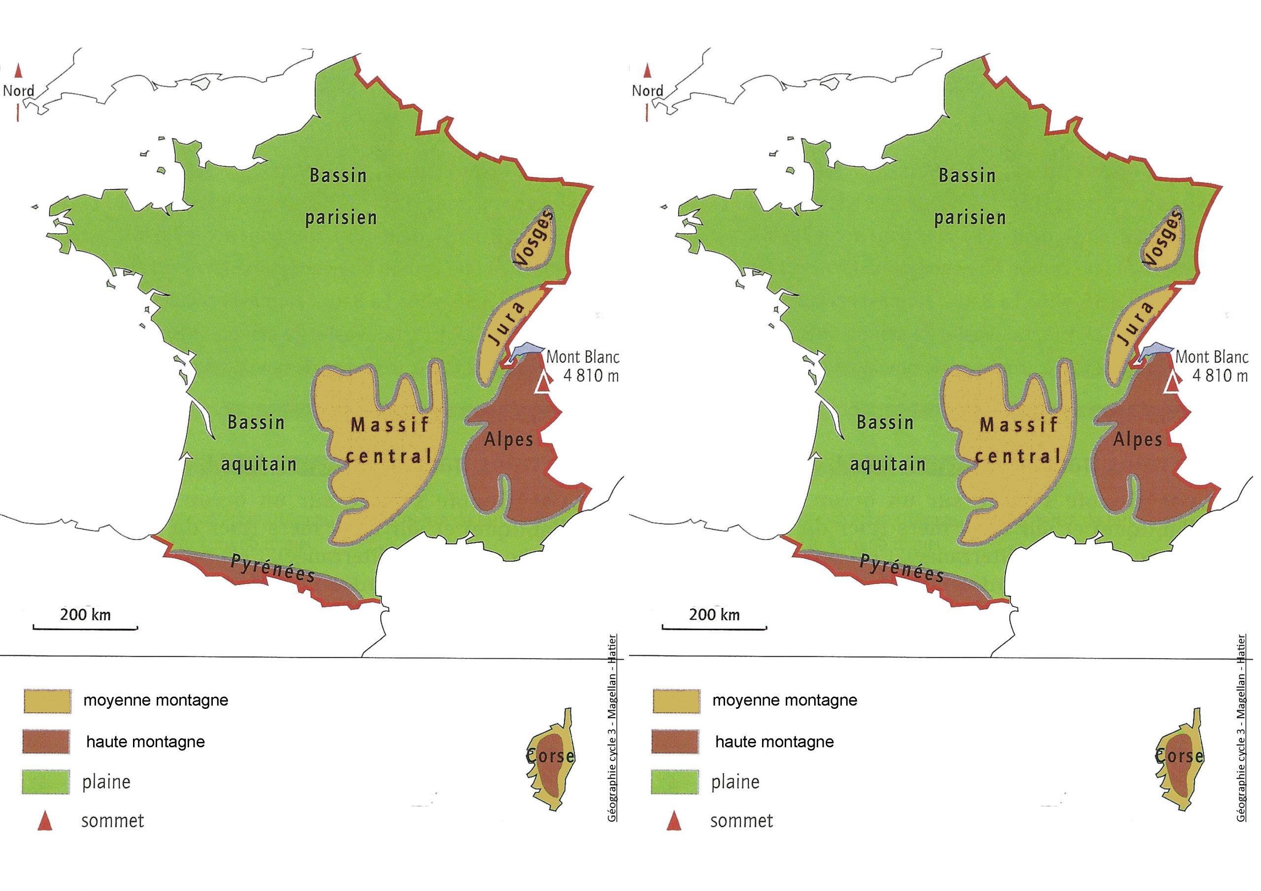 Géographie - Les Journées Sont Trop Courtes à Le Découpage Administratif De La France Ce2