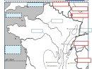 Géographie : Une Évaluation Sur La France (Frontières intérieur Carte De France Ce2