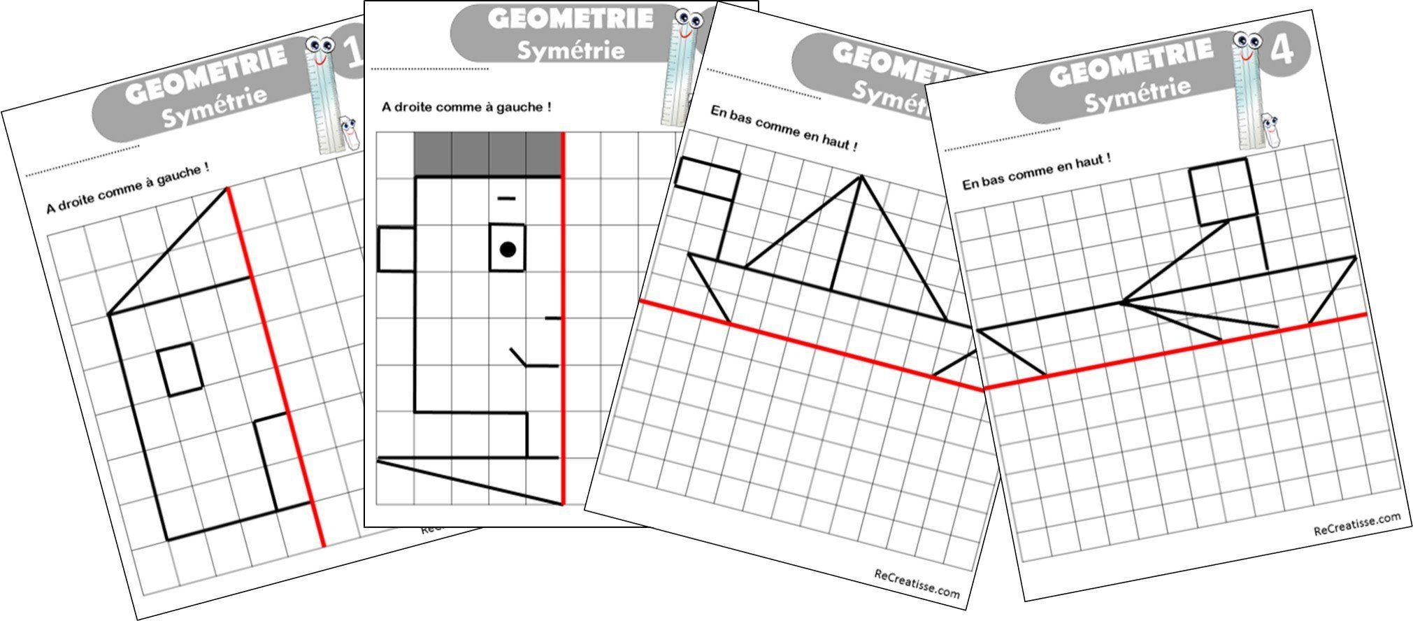 Geometrie : Ateliers Symétrie Et Exercices | Géométrie tout Symétrie Ce1 Ce2