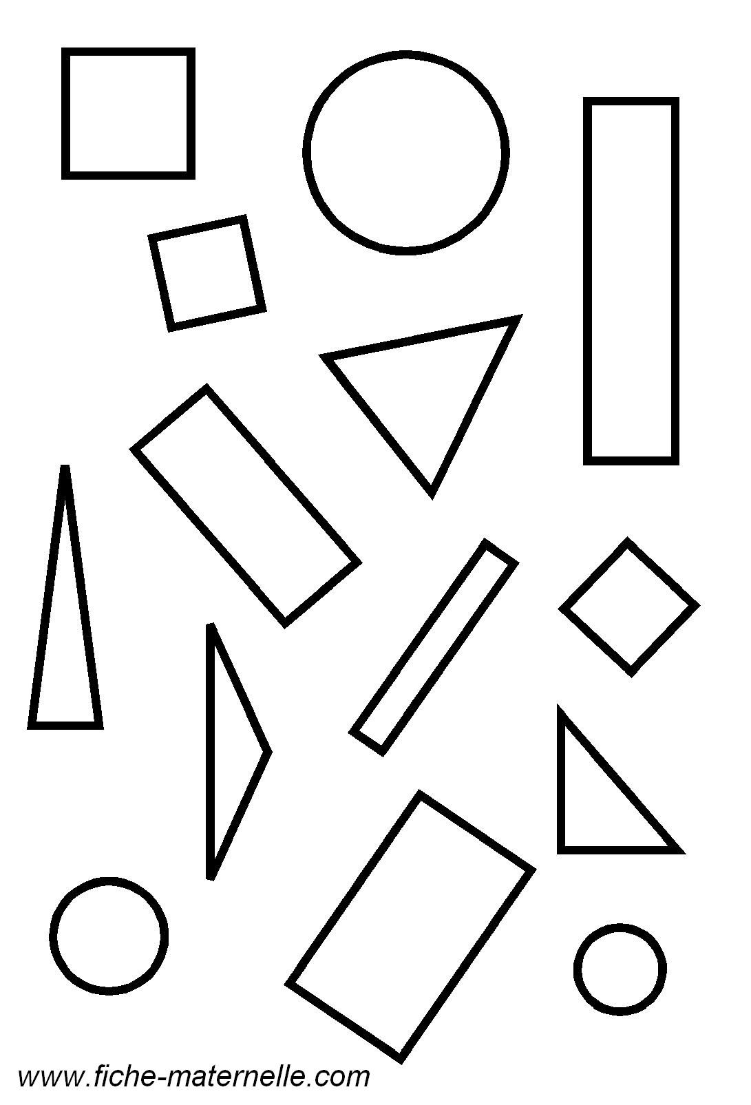 Géométrie En Maternelle : Les Figures Géométriques concernant Formes À Découper Maternelle
