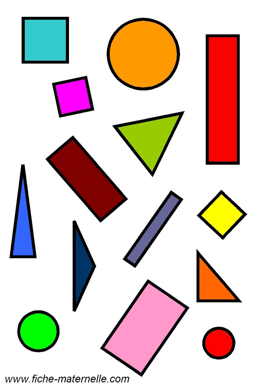 Géométrie En Maternelle : Les Figures Géométriques dedans Formes À Découper Maternelle