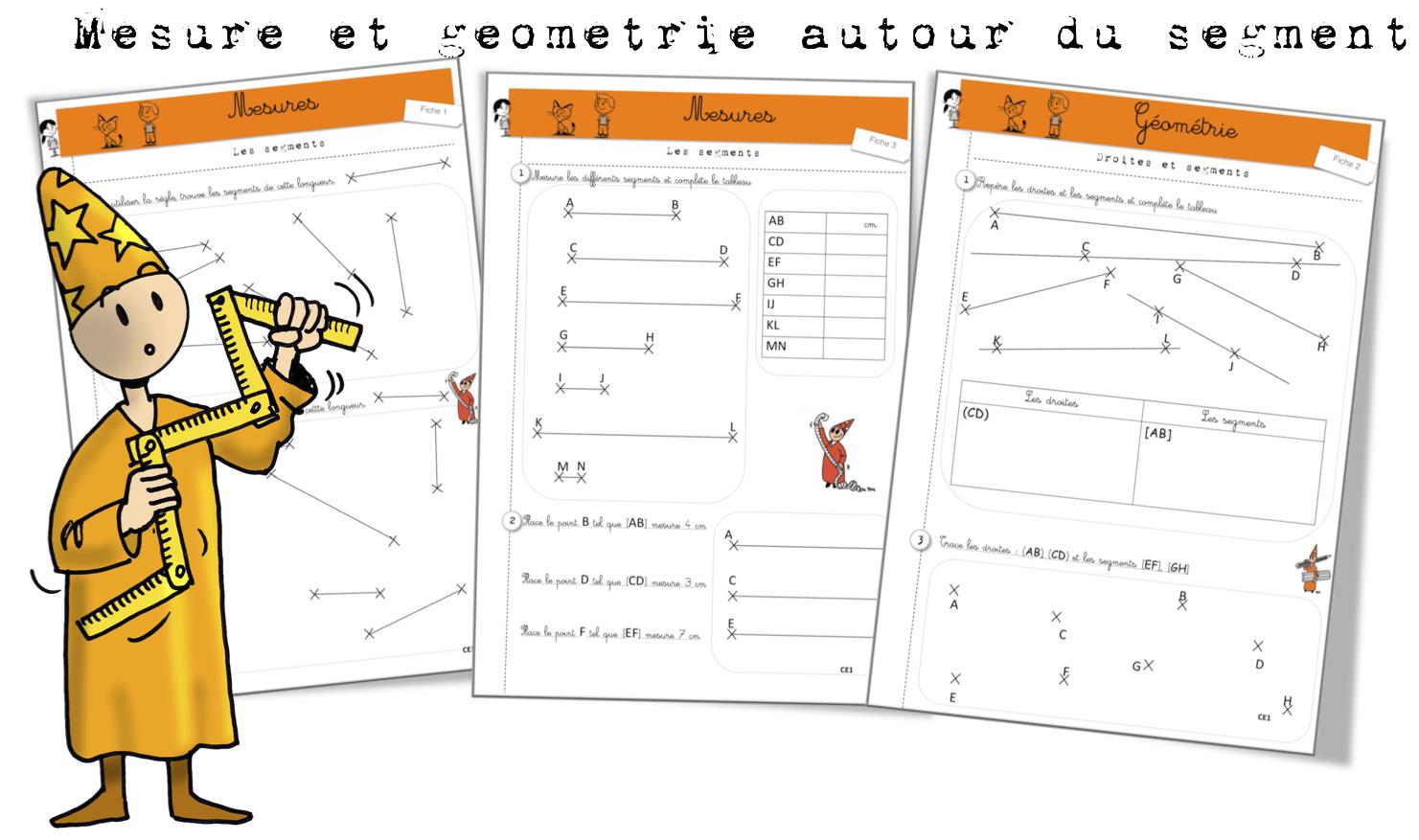 Géométrie Et Mesure Sur Les Segments: Exercices | Bout De Gomme encequiconcerne Exercice De Cp En Ligne