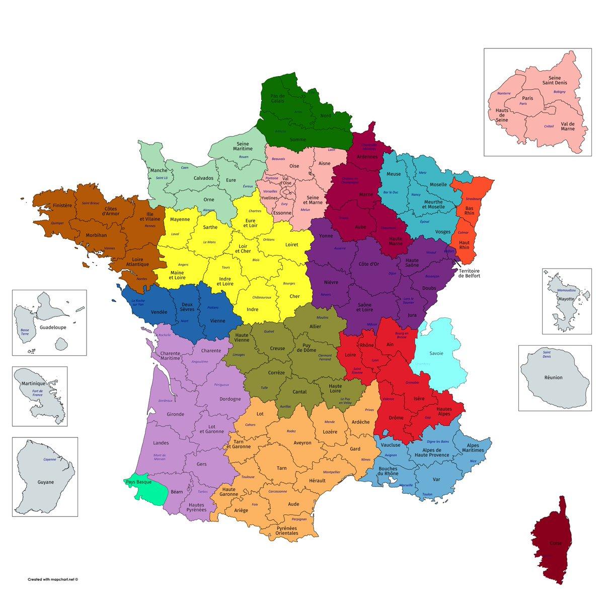 """Giuseppe 🇪🇺 🇭🇰 A Twitter: """"suite À Cette Semaine De encequiconcerne La Carte De France Et Ses Régions"""