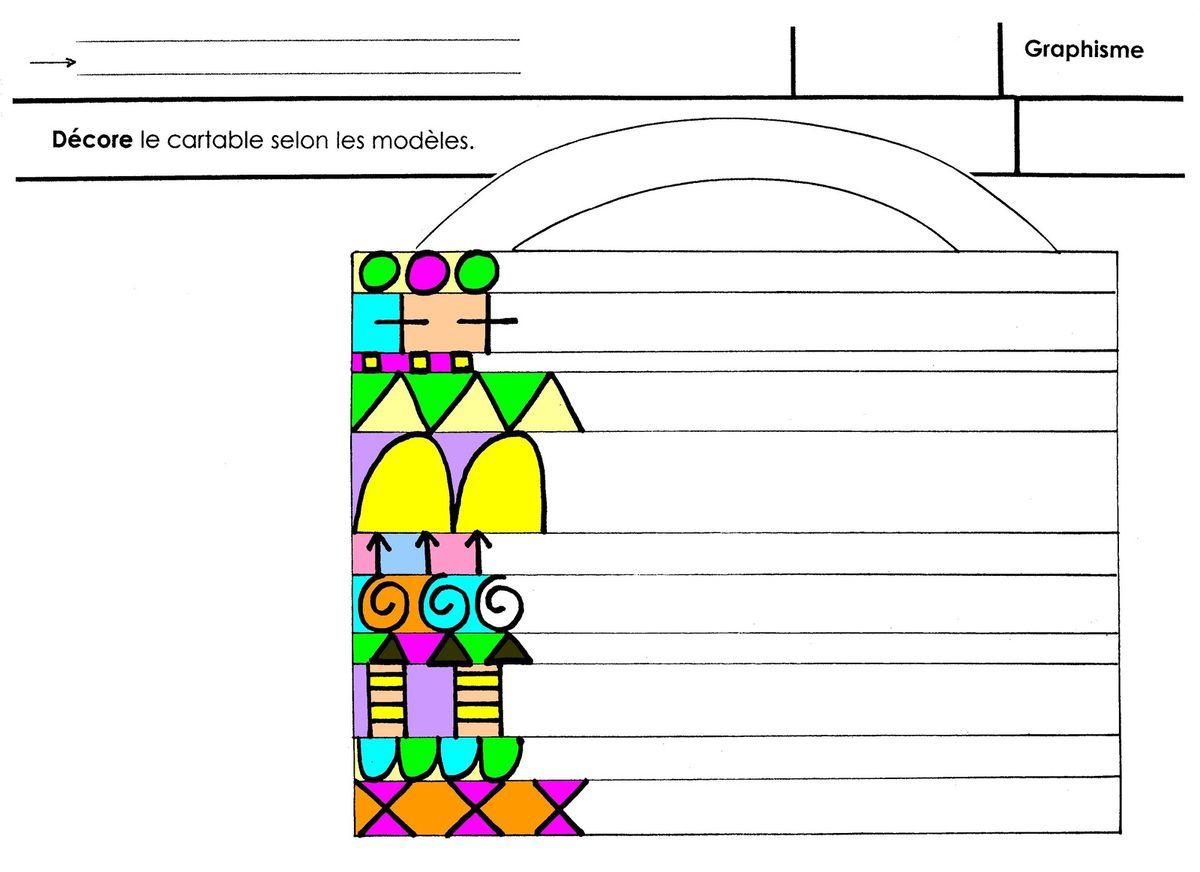 Gloups, Graphisme Dans Des Interlignes - École Maternelle Gellow avec Graphisme Décoratif Grande Section
