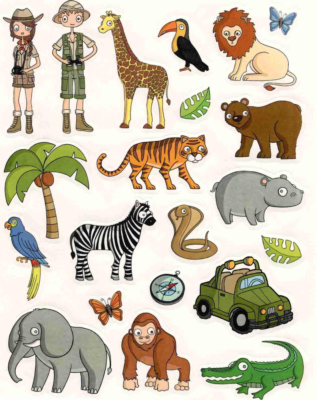 Gommettes Animaux De La Jungle pour Animaux De La Jungle Maternelle