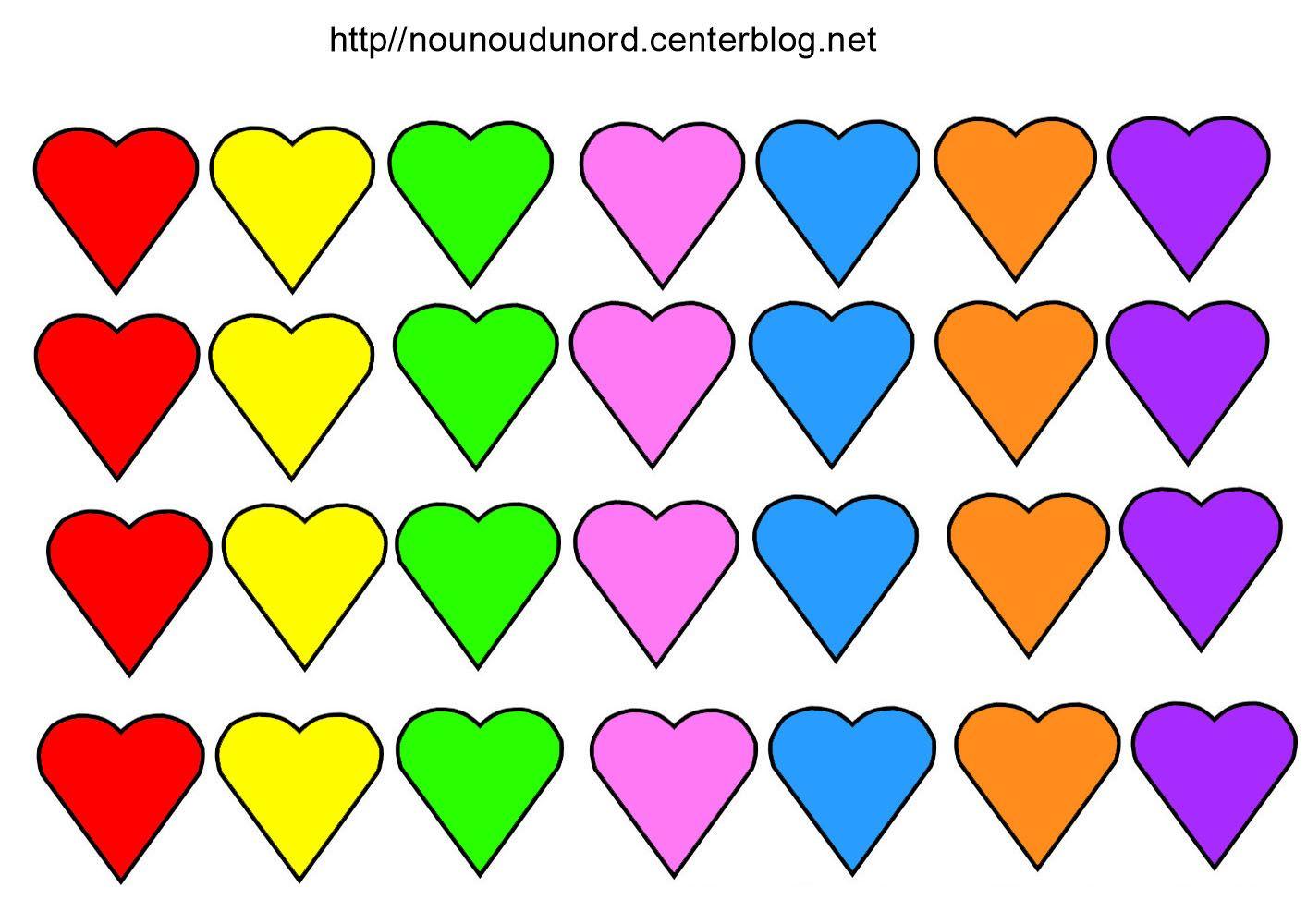 Gommettes Coeur destiné Coeur A Imprimer Et Decouper