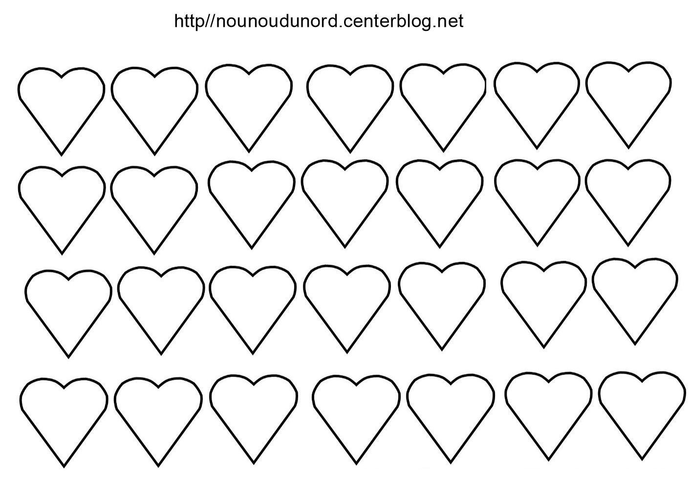 Gommettes Coeur encequiconcerne Coeur A Imprimer Et Decouper