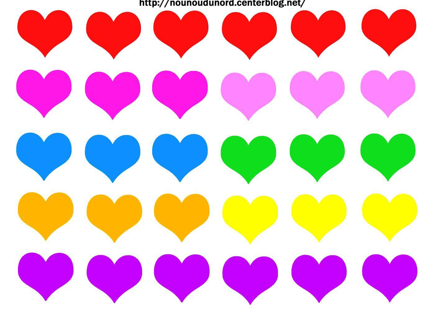 Gommettes Coeurs À Imprimer dedans Coeur A Imprimer Et Decouper