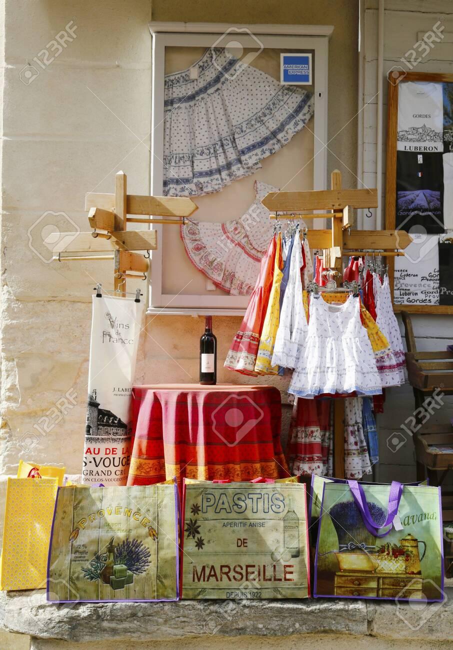 Gordes, France- October 12 Souvenirs In Local Store In Gordes.. serapportantà Departement 12 En France