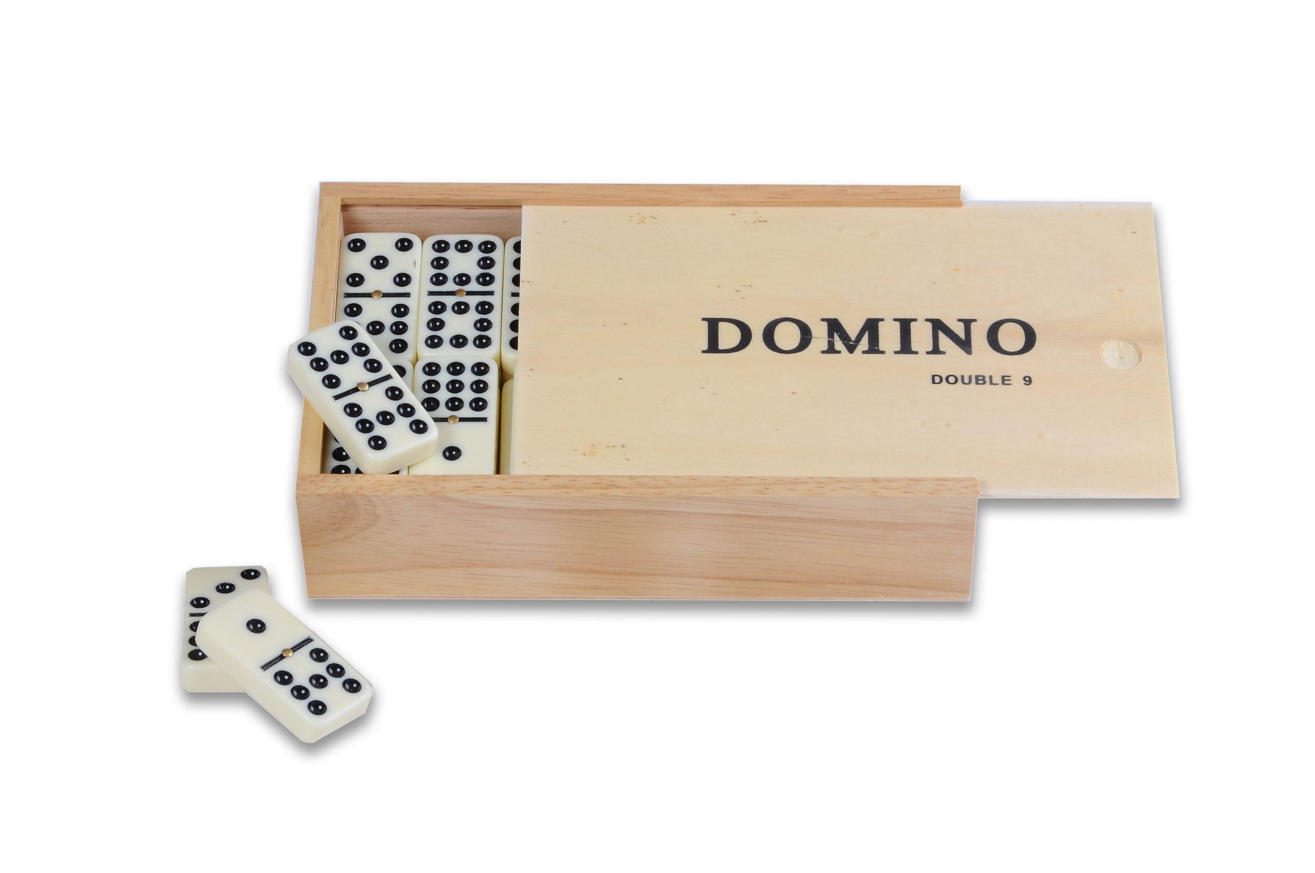 Grand Jeu De Dominos De Qualité Double Neuf Dans Une Belle Boite En Bois pour Jeu Du Domino