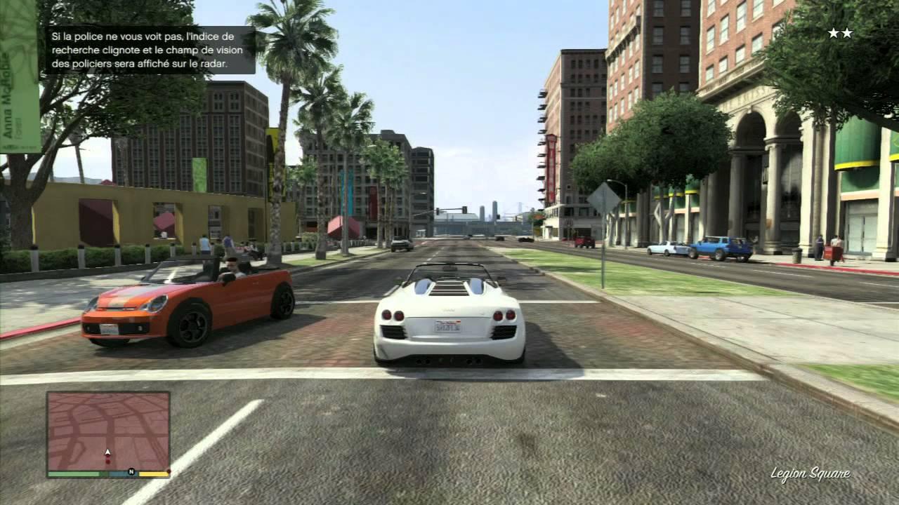 Grand Theft Auto V - Course Poursuite Avec La Police - Extrait De Gameplay    Jeux Vidéo Par Gamekult tout Jeu De Voiture De Police Gratuit