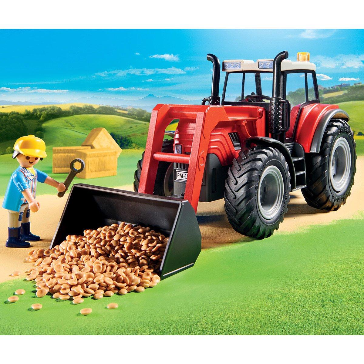 Grand Tracteur Avec Remorque Playmobil Country 70131 destiné Jeux Gratuit Tracteur A La Ferme