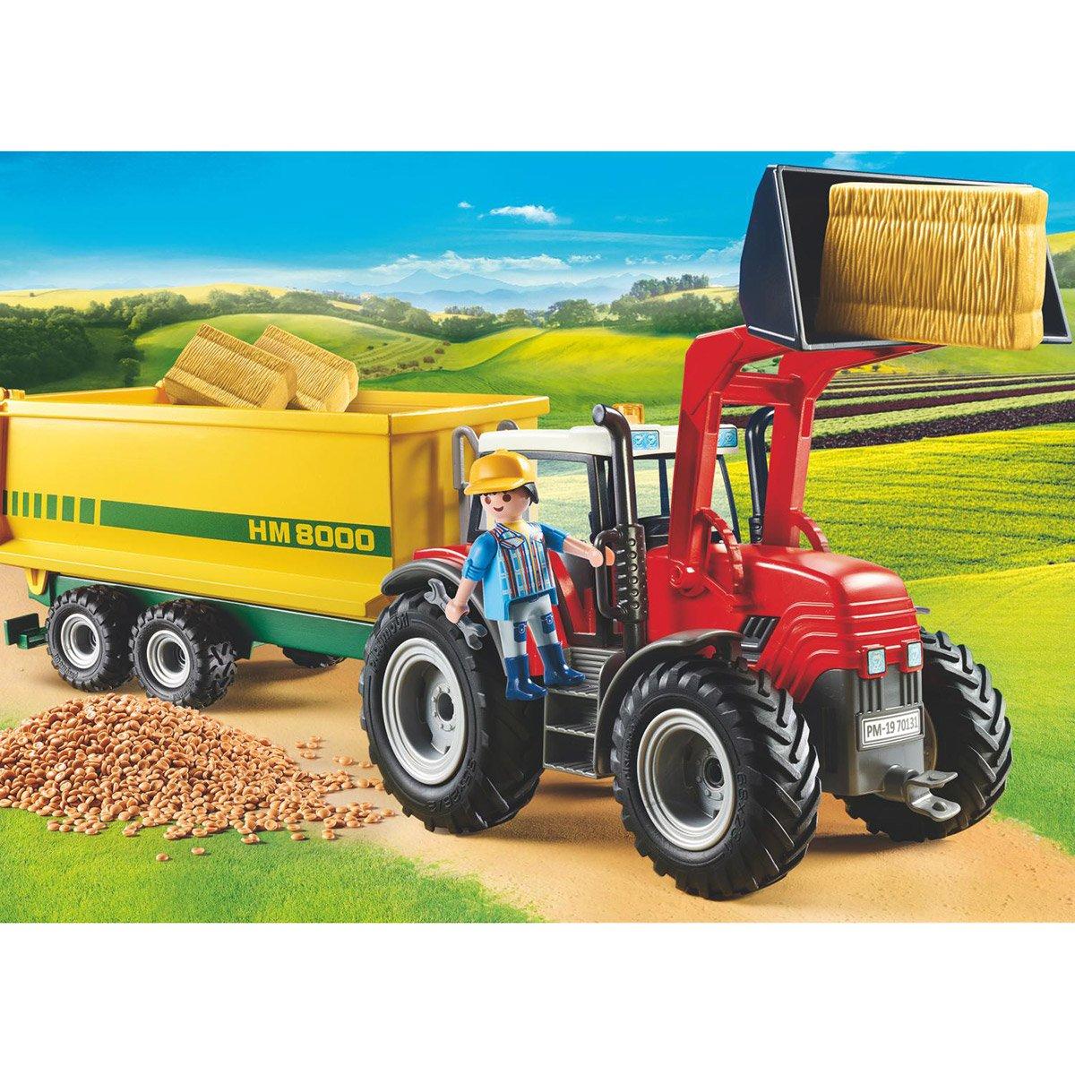 Grand Tracteur Avec Remorque Playmobil Country 70131 serapportantà Jeux Gratuit Tracteur A La Ferme