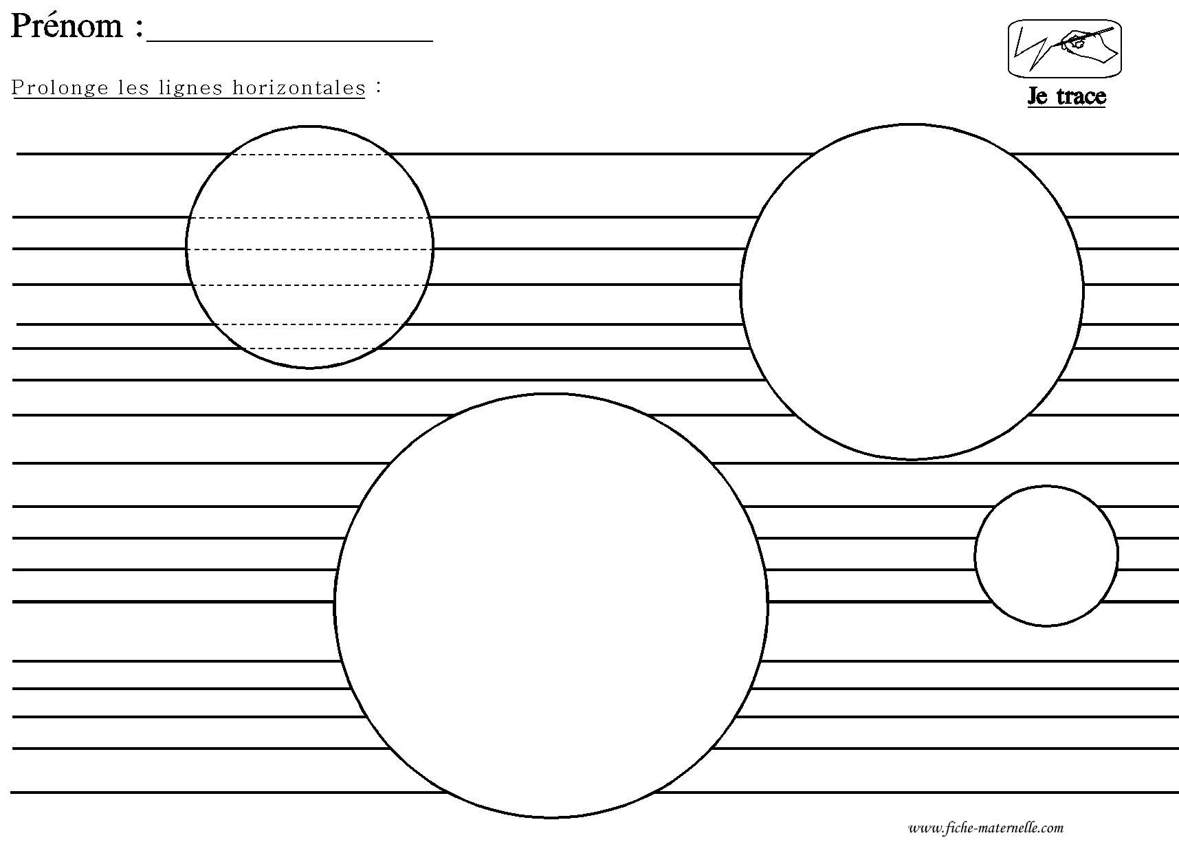 Graphisme En Maternelle : Tracer Des Lignes Horizontales destiné Graphisme Traits Verticaux