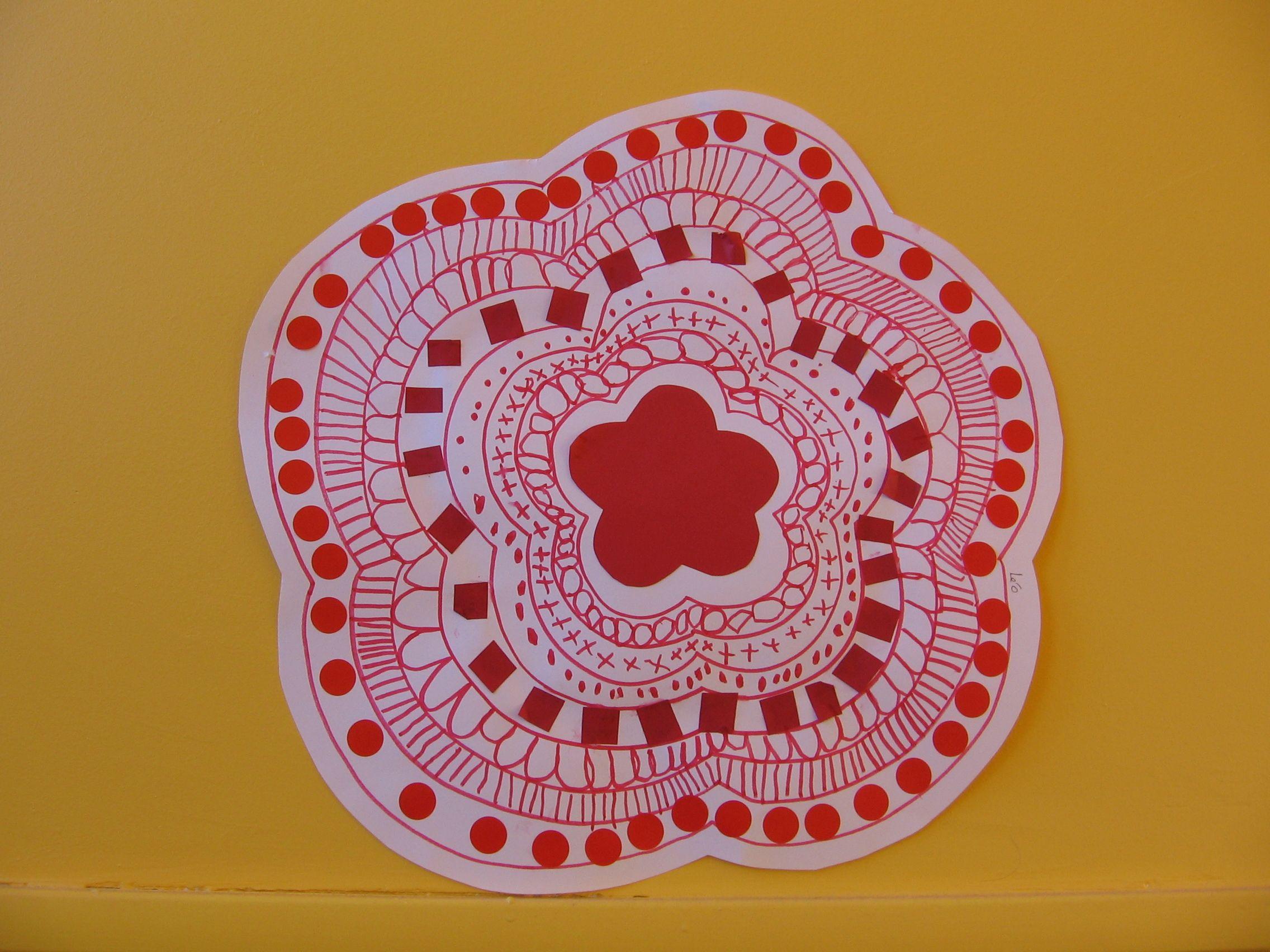 Graphisme Et Collage Fleur Grande Section C. Fristot dedans Graphisme Décoratif Grande Section