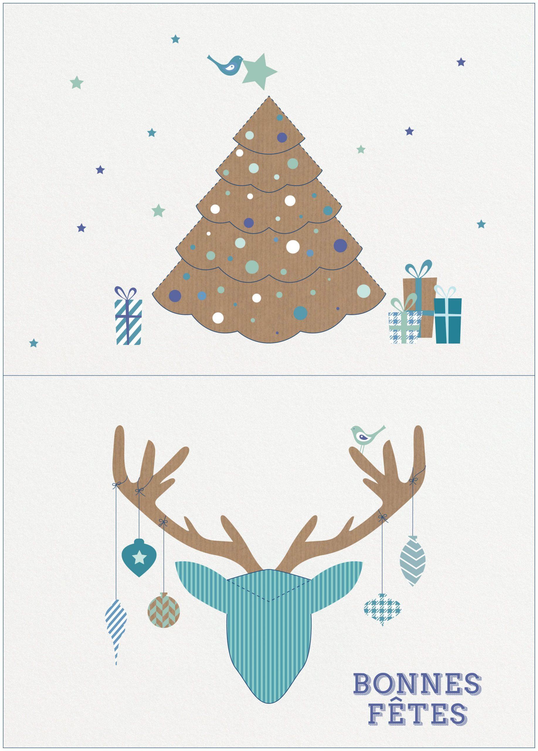 Gratuit : Des Cartes Pop-Up À Imprimer Pour Les Fêtes De Fin à Carte De Bonne Année Gratuite A Imprimer