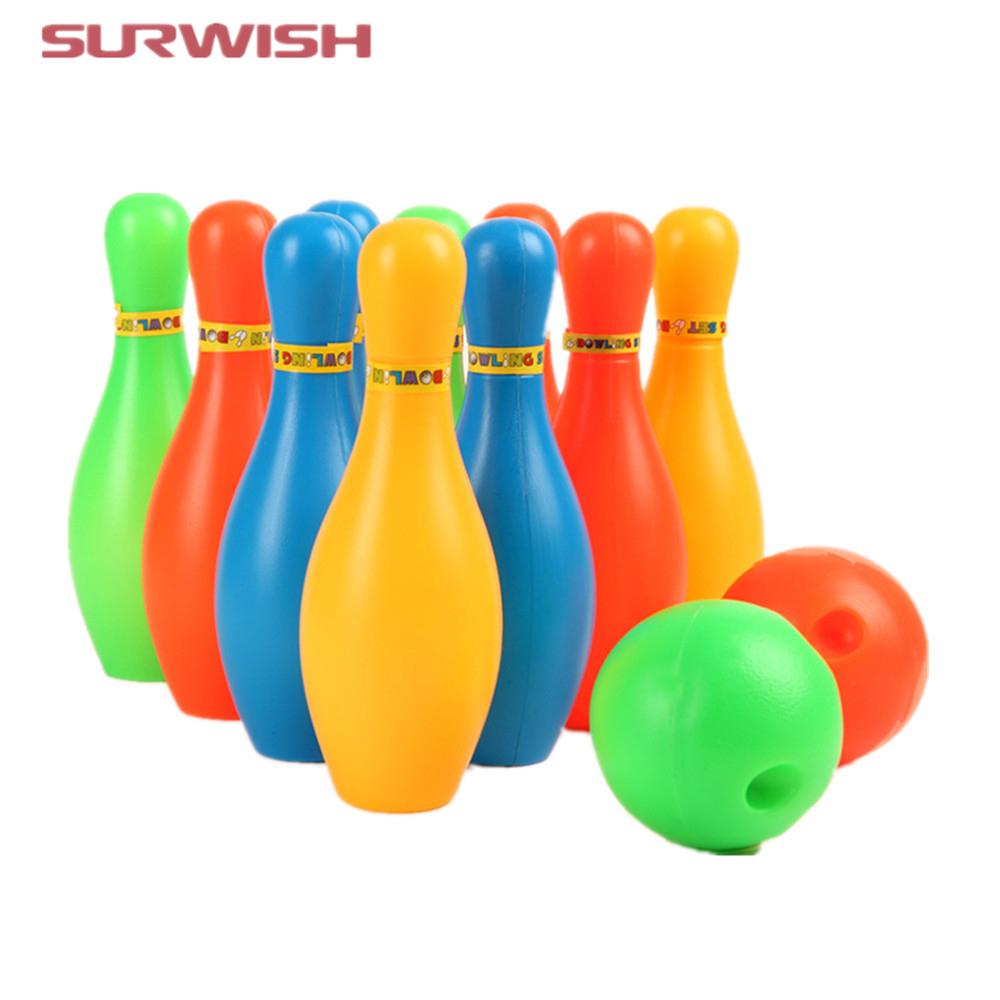 Gros-Surwish 17Cm Hauteur Enfants En Plastique Bowling Ensemble Mini  Interaction Loisirs Jouets Éducatifs Avec Balle Et Pins intérieur Bowling Pour Enfant