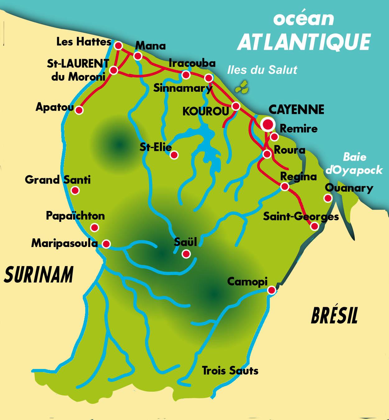 Guyane | Afropunk tout Carte De France Dom Tom