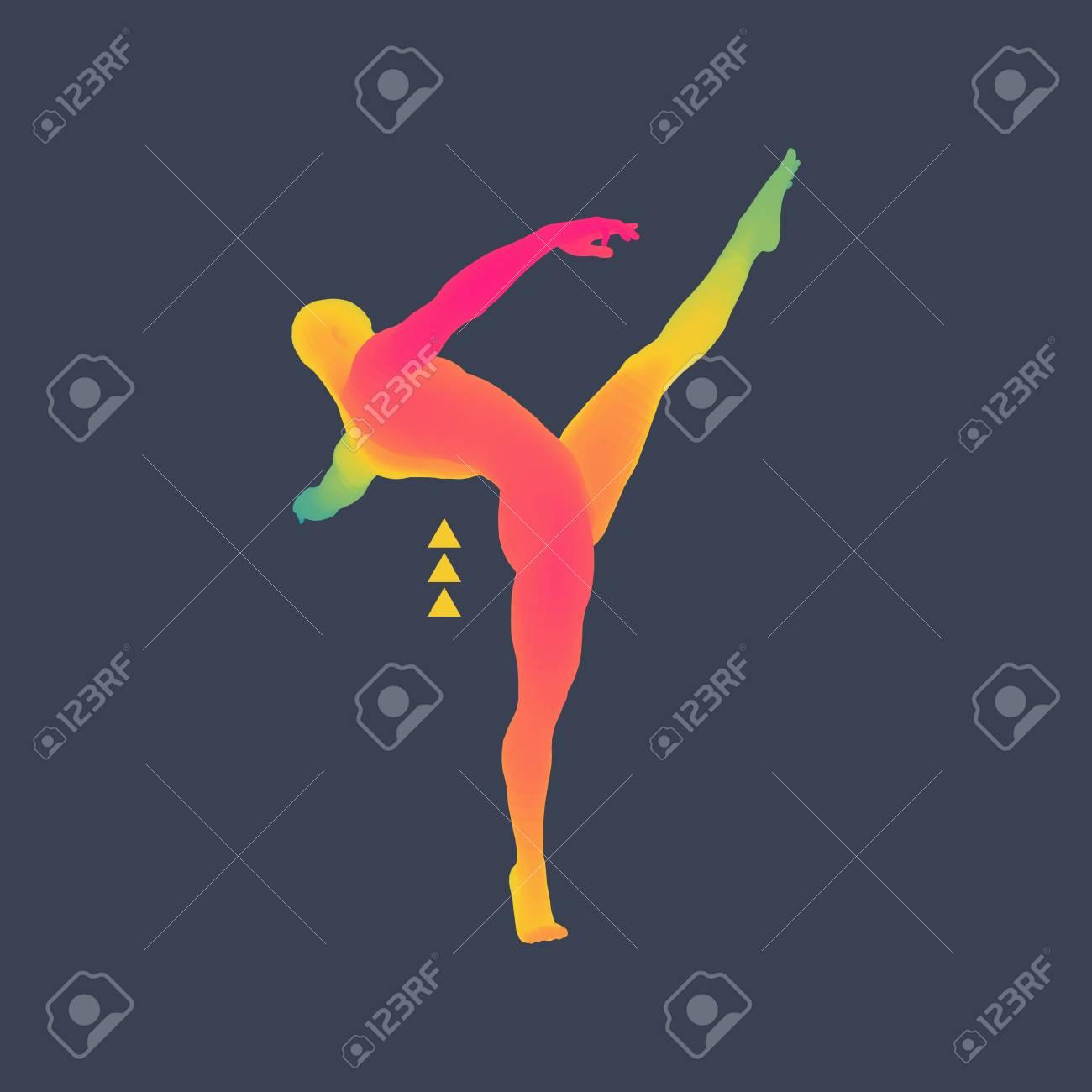 Gymnaste. Modèle 3D De L'homme. Modèle Du Corps Humain. Activités De  Gymnastique Pour Icon Health And Community Fitness. destiné Activité Corps Humain
