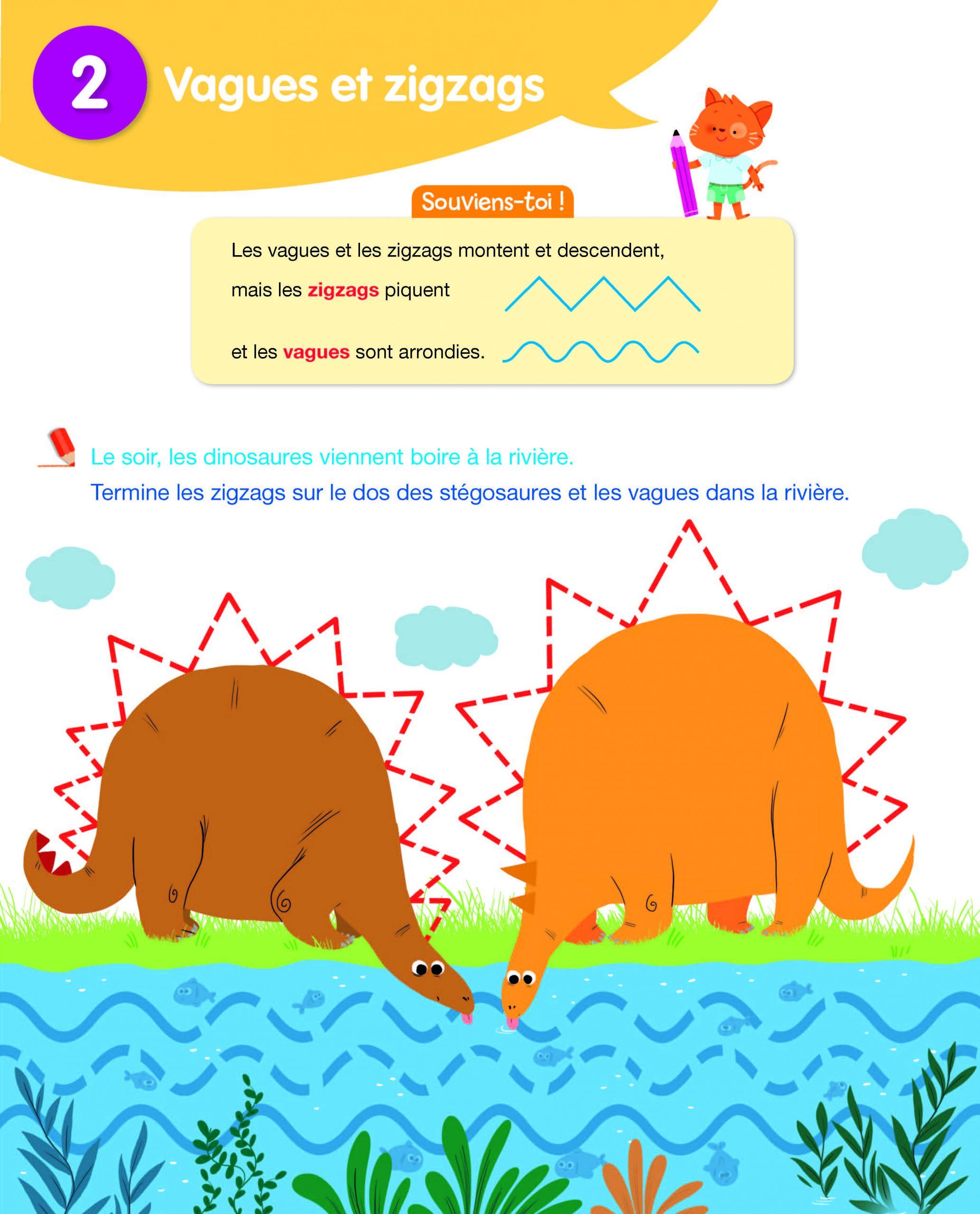 Hachette Education Toute Ma Maternelle Lecture Ecriture à Graphisme Les Vagues Moyenne Section