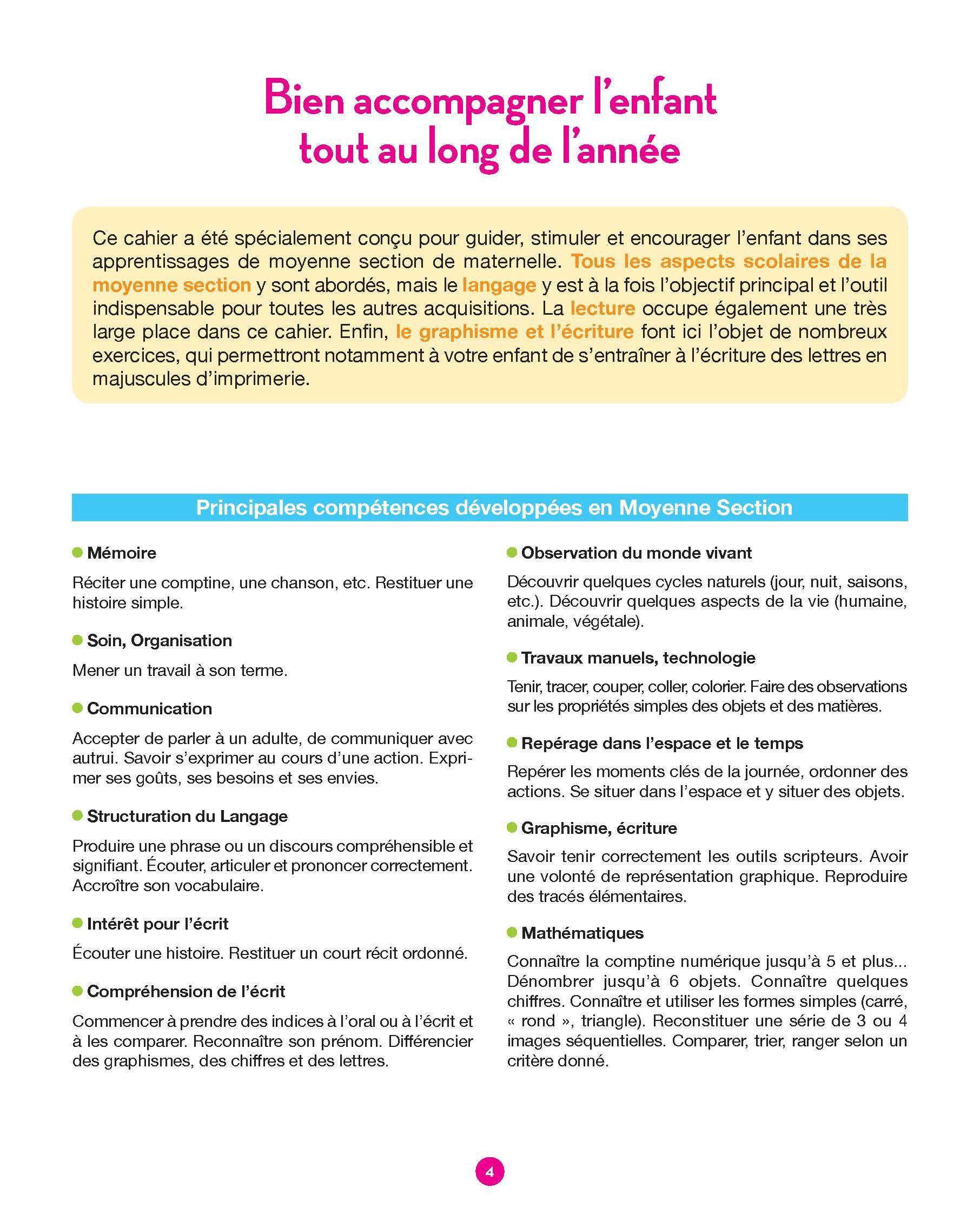 Hachette Education Toute Ma Maternelle Moyenne Section concernant Cours Moyenne Section Maternelle