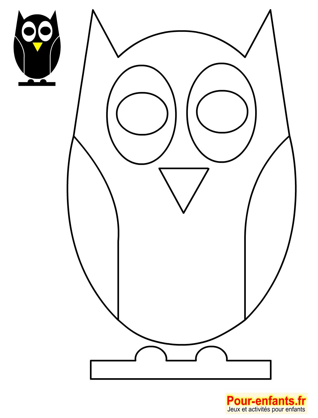 Halloween Bricolage Enfant Silhouette Hibou Forme Pochoir avec Silhouette D Animaux À Imprimer