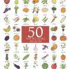 Hand Drawn Fruits Et Légumes Griffonnage Avec Le Nom. Vector Illustration pour Nom De Legume