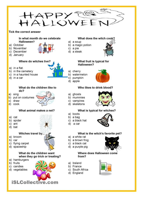 Happy Halloween - Quiz | Halloween, Halloween Pour Enfants encequiconcerne Quizz Enfant