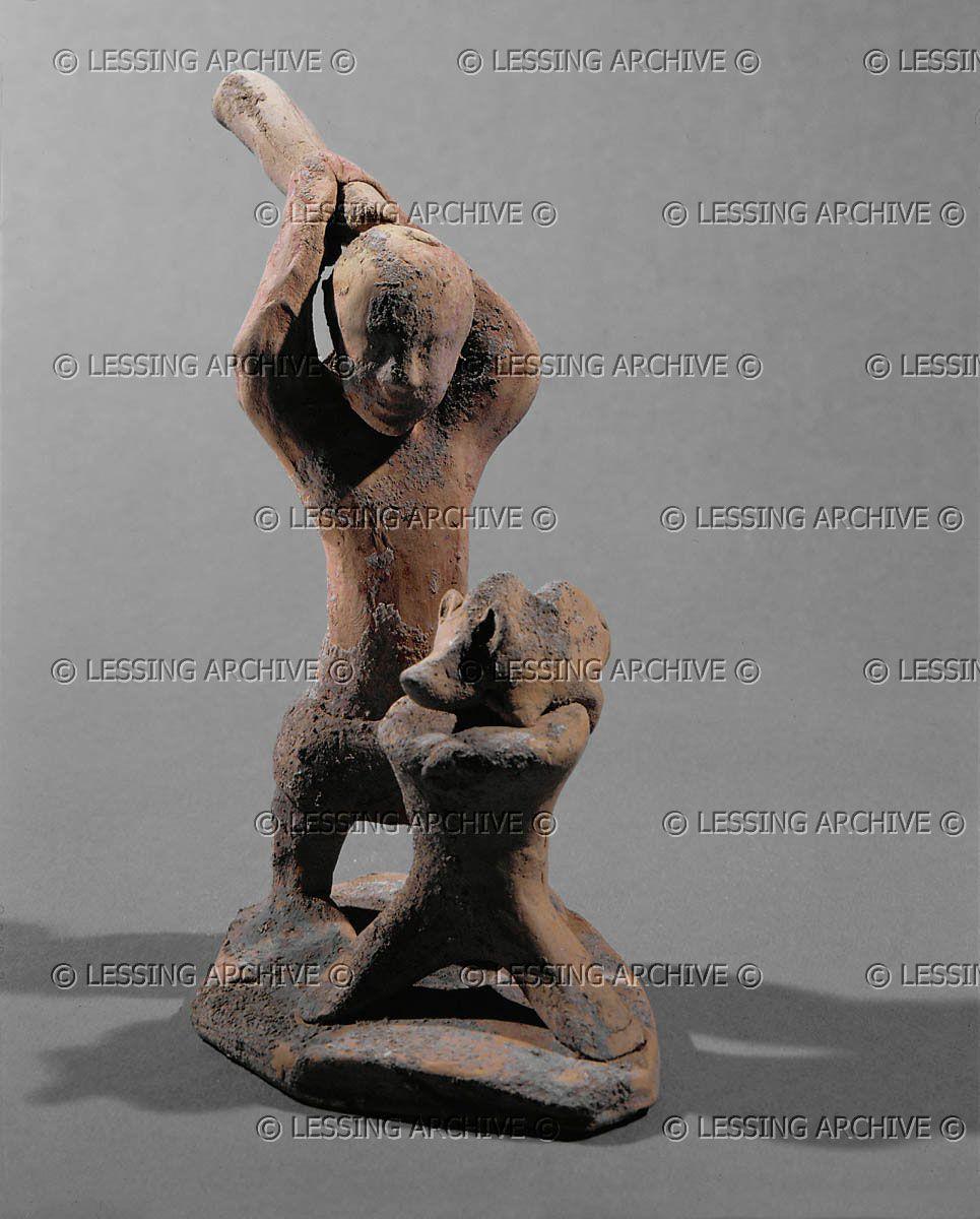 Hellenistic Figurine 6Th Bce Butcher Slaughtering A Pig destiné Departement 12 En France