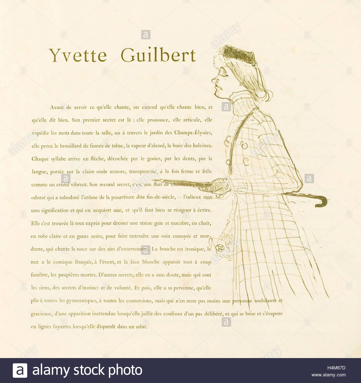 Henri De Toulouse-Lautrec (French, 1864 - 1901), Yvette encequiconcerne Mot Fleché En Ligne