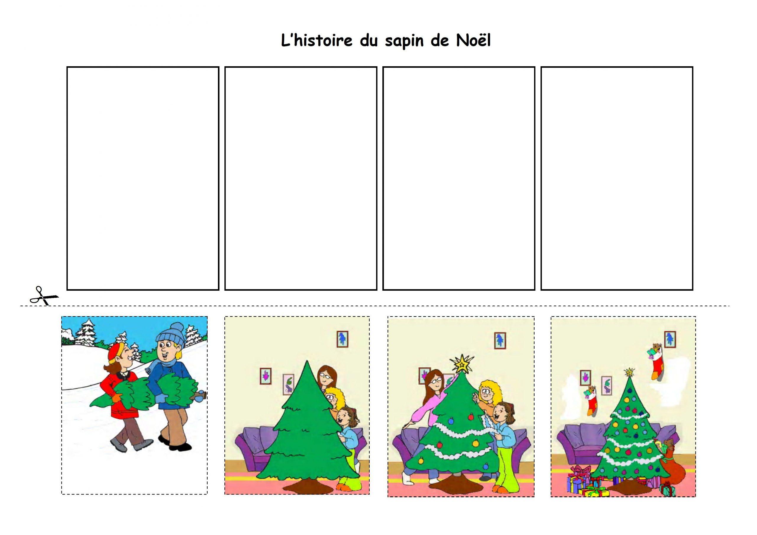 Histoire Séquentielle Noel - Bing Images | Noel Maternelle à Images Séquentielles À Imprimer