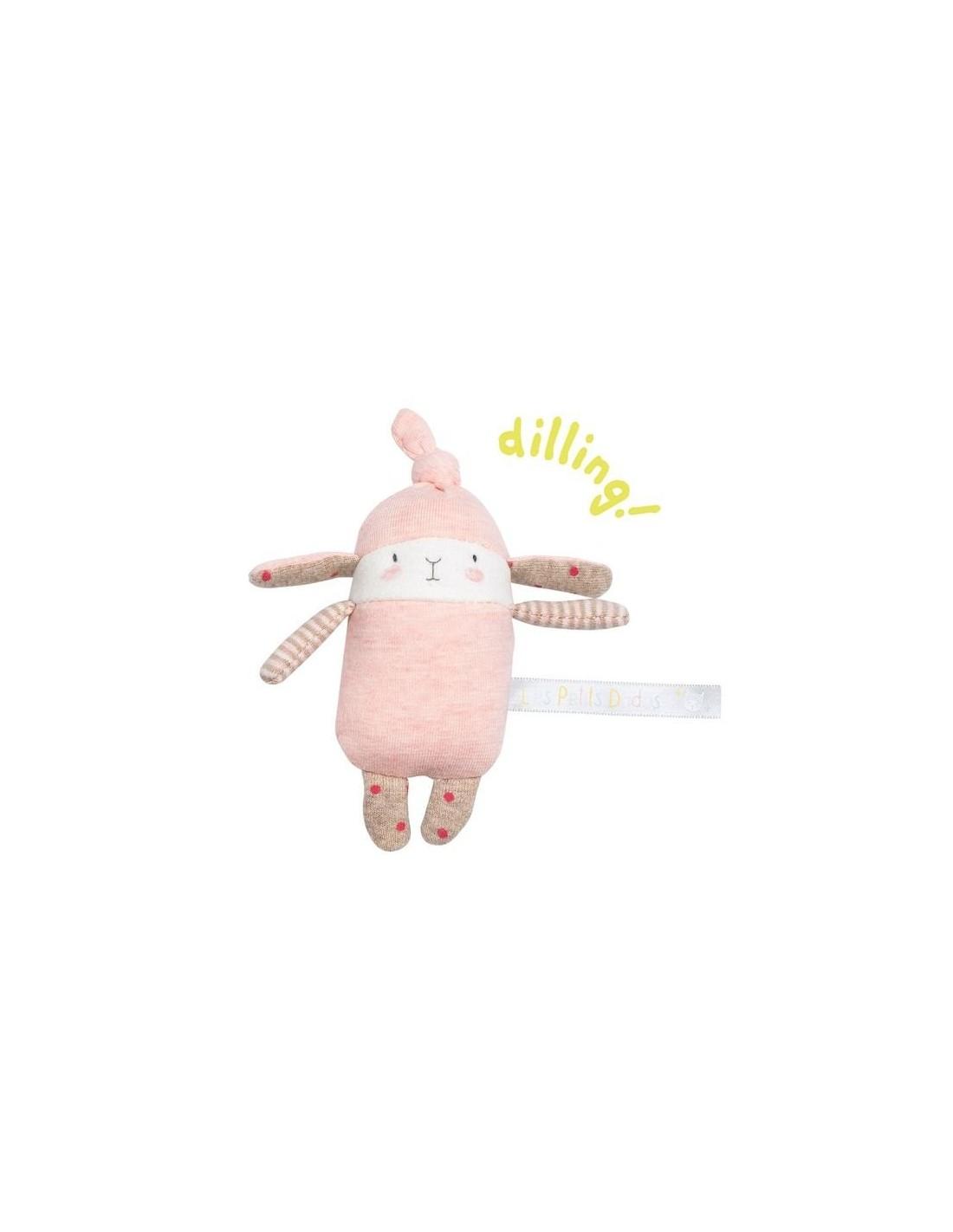 Hochet Petit Lapin Rose Lulu Les Petits Dodos - Moulin Roty dedans Lapin Lulu