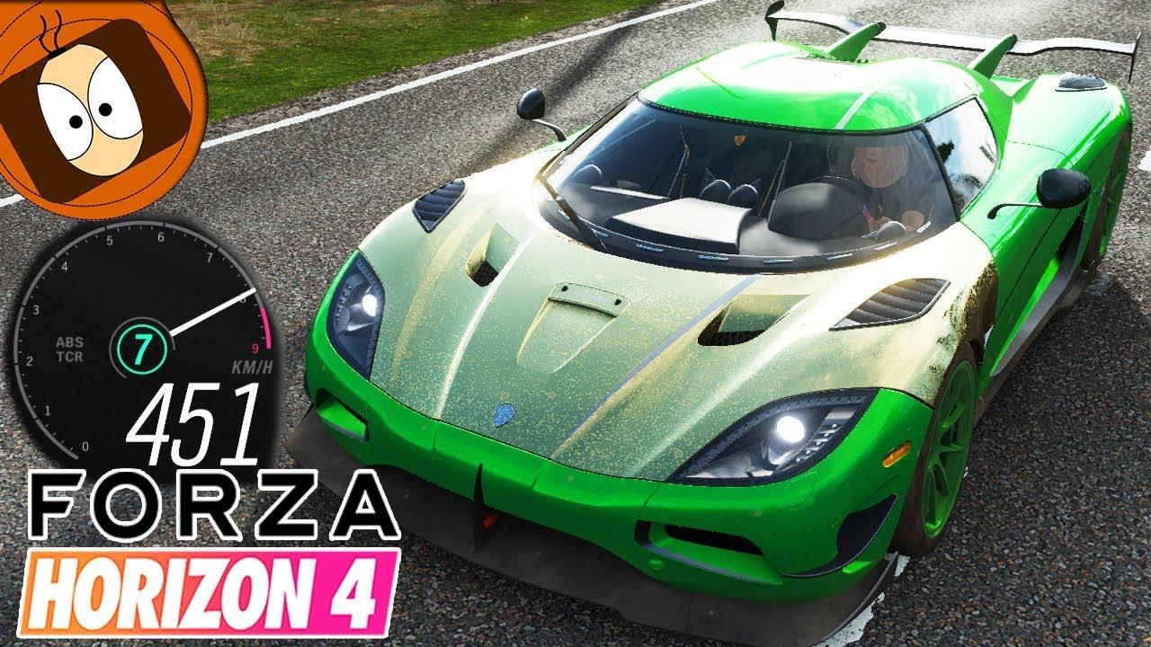 Horizon 4 : Agera Rs, La Plus Rapide Du Jeu ? #450Km/h | Gameplay avec Jeux De 4 4 Voiture