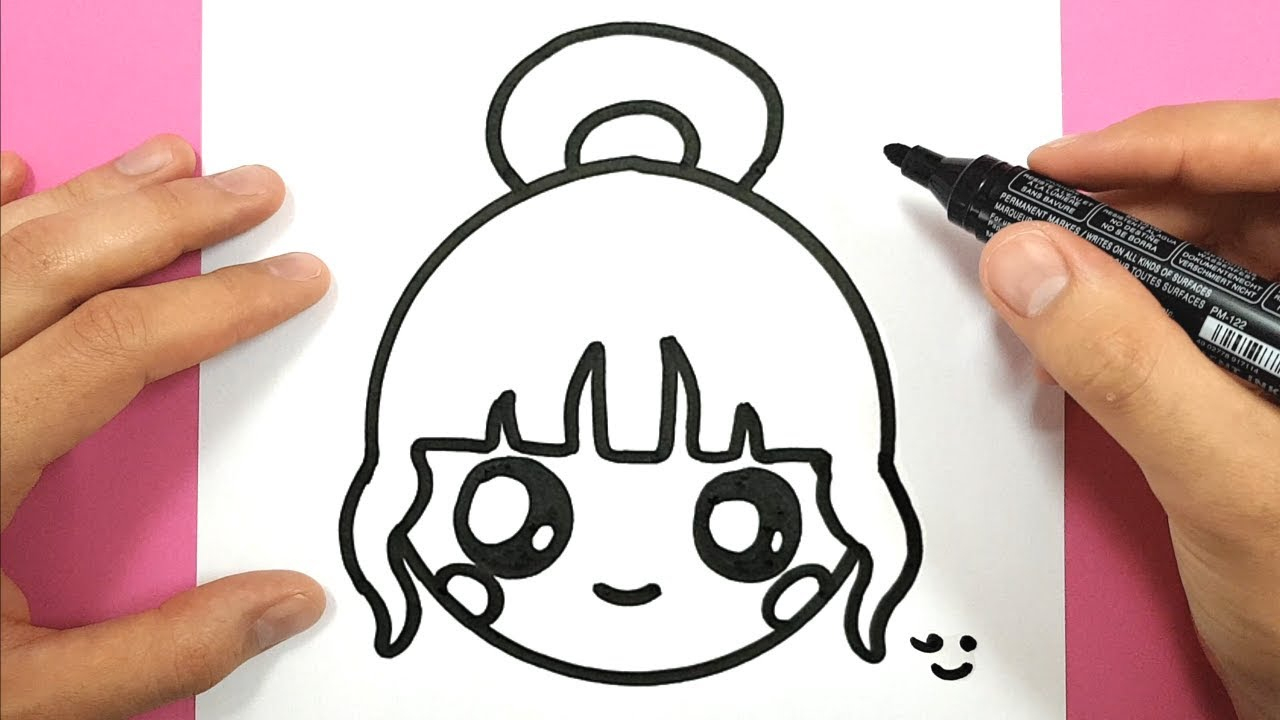 How To Draw A Cute Girl Easily dedans Dessin Facile Pour Fille