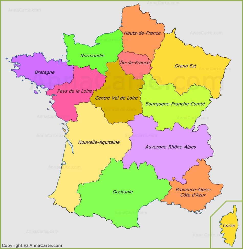 Https://annacarte/carte-Du-Monde Https://annacarte concernant Image De La Carte De France