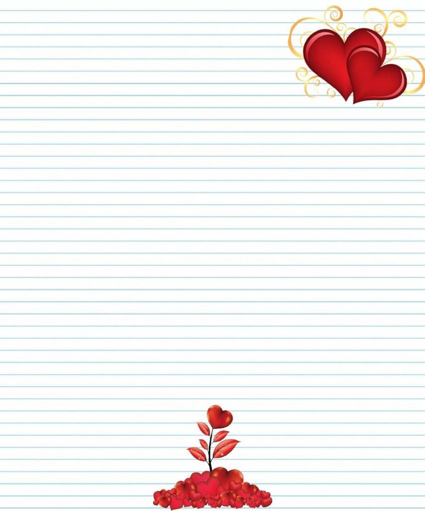 Idée Papier À Lettre D'amour A Imprimer | Papier À Lettre destiné Papier À Lettre Gratuit À Imprimer