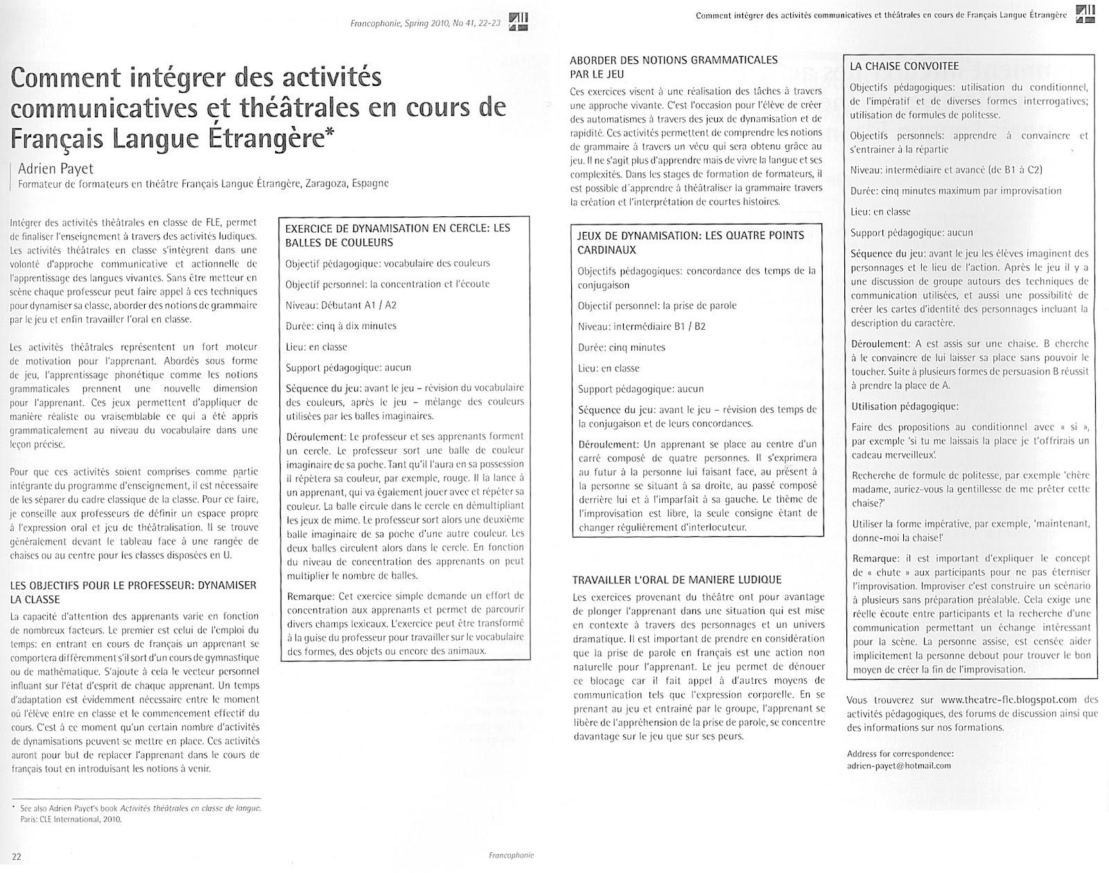 Idées D'activités Pour La Classe De Fle Fiches Pédagogiques pour Apprendre A Ecrire Le Francais Pour Debutant