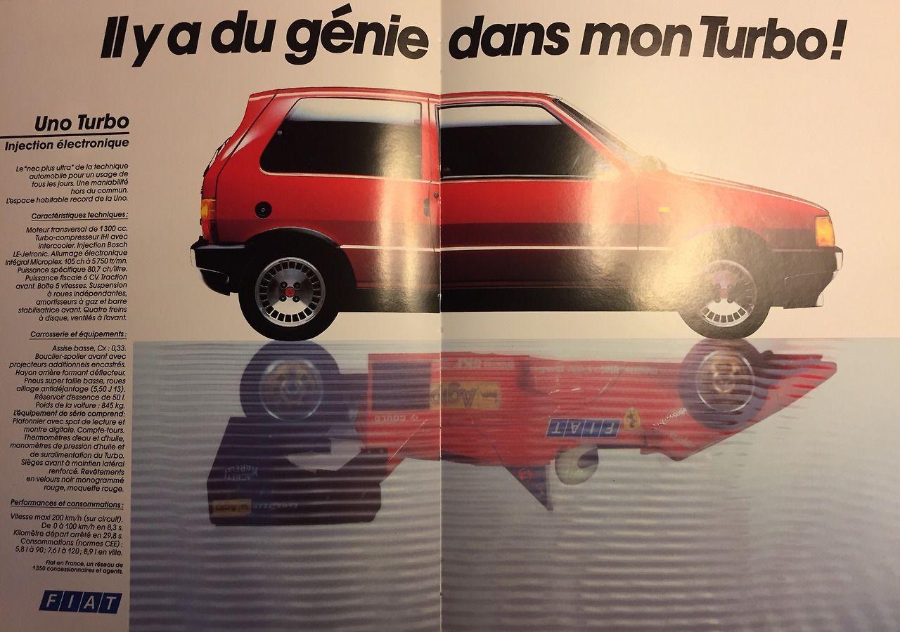 Il Y A Du Génie Dans Mon Turbo Fiat Uno Turbo New avec Quatres Image Un Mot