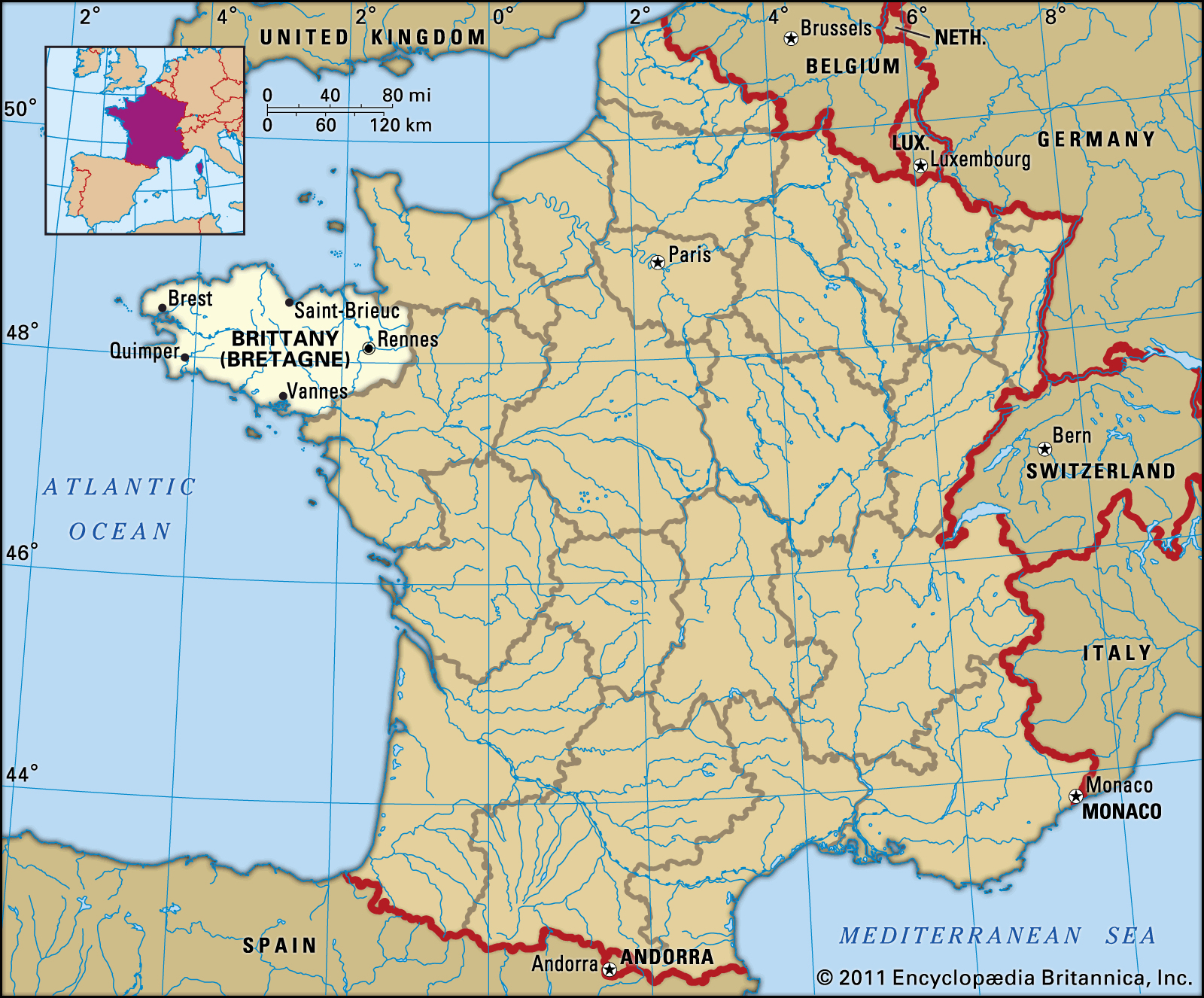 Ille-Et-Vilaine   Department, France   Britannica tout Departement 22 Region