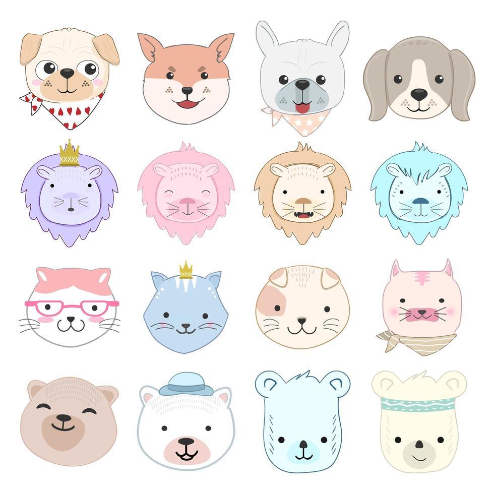 Illustration De Jeu De Caractères De Dessin Animé Animal avec Jeux De Bébé Animaux Gratuit