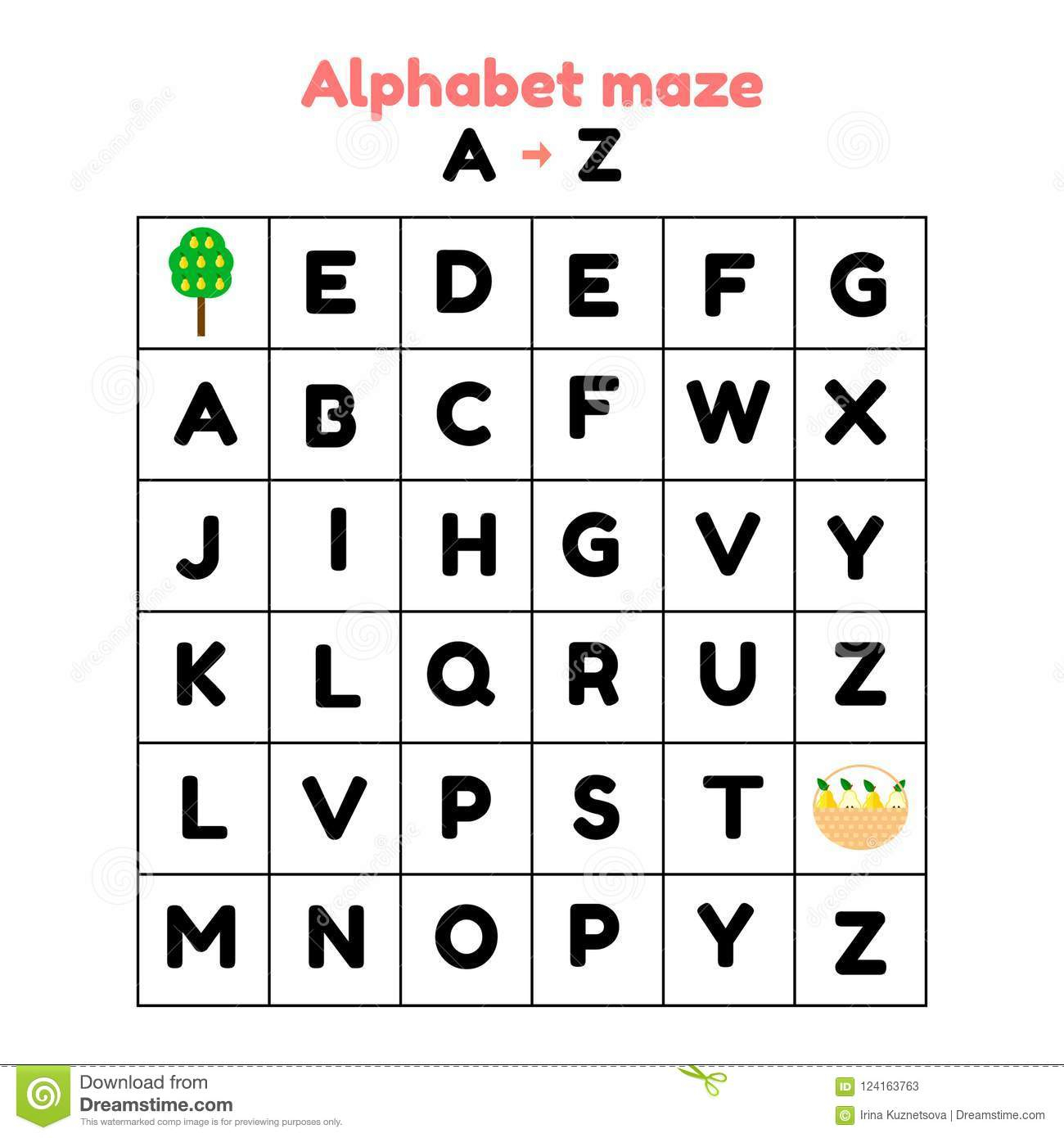 Illustration Jeu Pour L'école Maternelle Et Les Écoliers serapportantà Exercice D Alphabet En Maternelle