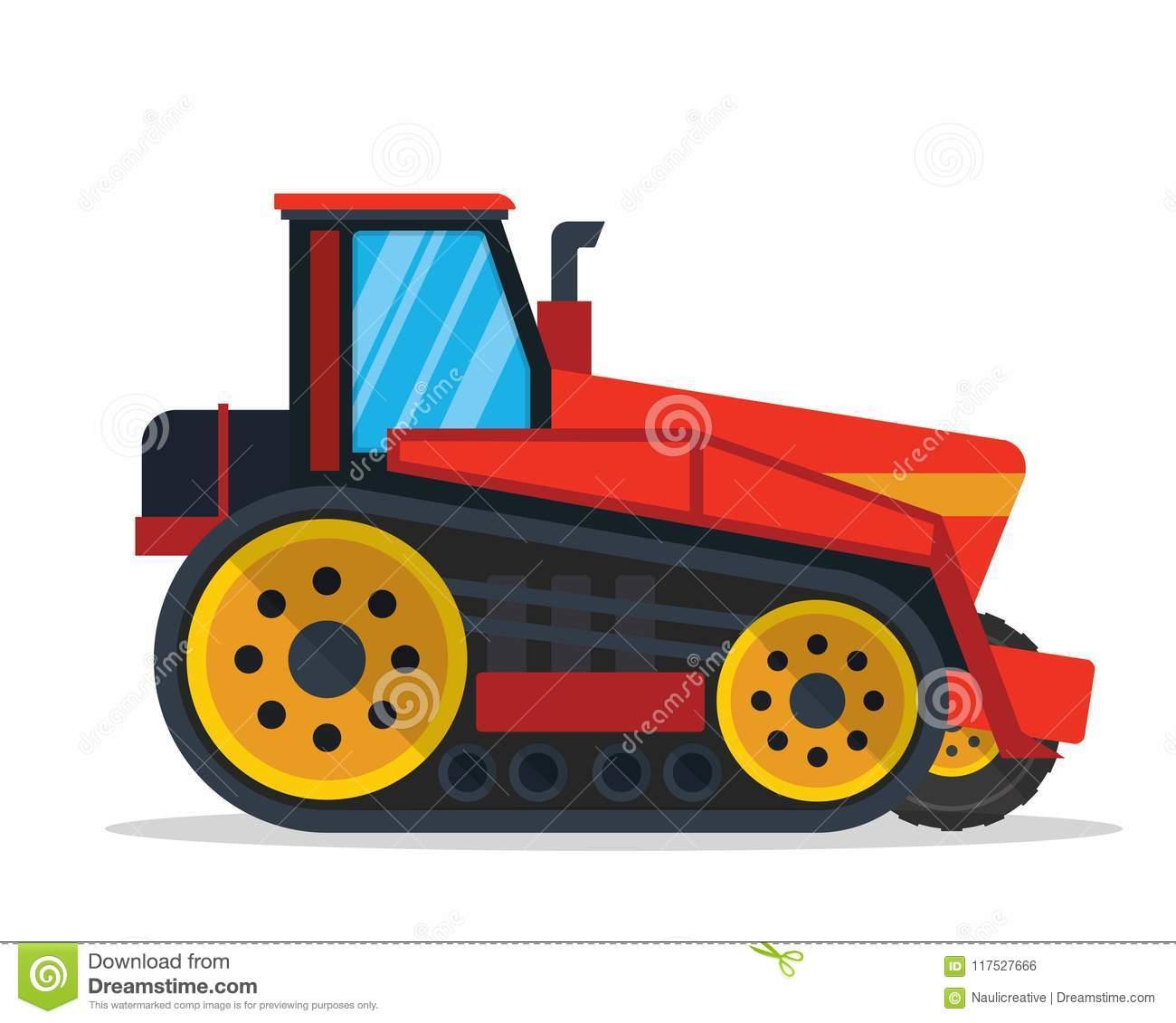 Illustration Moderne De Véhicule De Ferme D'agriculture De serapportantà Jeux Gratuit Tracteur A La Ferme